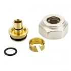 Komplet adapterów na alupex (Danfoss) gwint wewnętrzny chrom